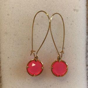 Like new Kate spade drop earrings w pink stone